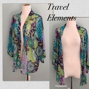 Travel elements cardigan women size L